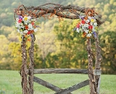Birch and Floral Arch in Knoxville, Tennessee, The Flower Pot