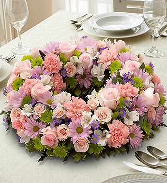 1 800 Flowers-Multicolor Pastel Centerpiece in Woodbridge VA, Lake Ridge Florist