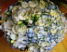 Blue & White Bridal Bouquet  in Lemont, Illinois, Royal Petal