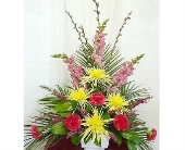 Traditional Funeral Arrangement in Warren MI, Downing's Flowers & Gifts Inc.