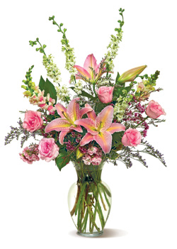 Shades of Pink in Nationwide MI, Wesley Berry Florist, Inc.