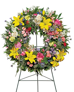 Warm Thoughts Wreath in Nationwide MI, Wesley Berry Florist, Inc.