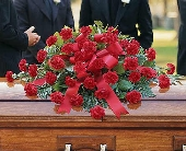 Carnation Casket Spray in Warren MI, Downing's Flowers & Gifts Inc.