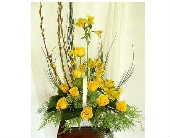 Springtime Yellow Tribute in Warren MI, Downing's Flowers & Gifts Inc.