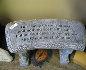 Garden memorial bench in Mankato MN, Becky's Floral & Gift Shoppe
