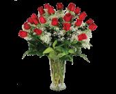 Las Vegas Flowers - Perfect Love, Two Dozen Rose Bouquet - Tiger Lily Floral