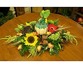 Fall pumpkin centerpiece in Melbourne FL, Paradise Beach Florist & Gifts
