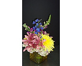 Small Cube Arrangement in Houston TX, Athas Florist