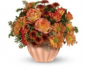Teleflora's Joyful Hearth Bouquet in Edmonton AB, Petals For Less Ltd.