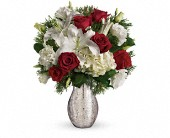A Christmas Kiss by Teleflora in Fredericton NB, Flowers for Canada