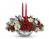 Teleflora's Winter Magic Centerpiece in Buffalo Grove IL, Blooming Grove Flowers & Gifts