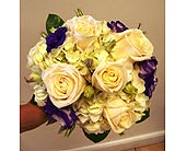 Cream and lavendar handtied bridal bouquet in Melbourne FL, Paradise Beach Florist & Gifts