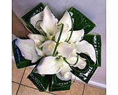 White rose and calla handtied bouquet in Melbourne FL, Paradise Beach Florist & Gifts