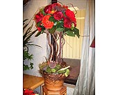 Fall silk topiary design in Melbourne FL, Paradise Beach Florist & Gifts