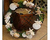 Seashell door wreath in Melbourne FL, Paradise Beach Florist & Gifts