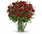 Orlando Flowers - 24 Red Roses Vased - Colonial Florist