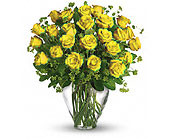 Orlando Flowers - 24 YELLOW ROSES - Colonial Florist