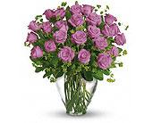 Orlando Flowers - 24 LAVENDER ROSES - Colonial Florist