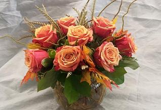 Fall Roses in Bothell WA, The Bothell Florist