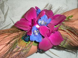peackock corsage and bout in Bothell WA, The Bothell Florist
