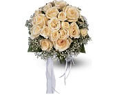 Hand-Tied White Roses Nosegay in Benton Harbor, Michigan, Crystal Springs Florist