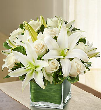 1 800 Flowers- Modern Embrace White Roses & Lillie in Woodbridge VA, Lake Ridge Florist