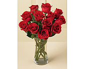 Detroit Flowers - 1 Dozen Roses Vased, Red or Mixed - Flowers 4 U, LLC