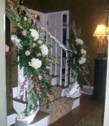 Stair Railing Arrangement in Huntington, West Virginia, Archer's Flowers, Inc.