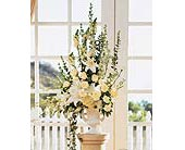 Home Ceremony Wedding Vows Arrangement in Santa Fe, New Mexico, Barton's Flowers