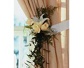 Home Ceremony Curtain Cluster in Fort Worth, Texas, TCU Florist