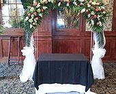 Wedding Arch in Staten Island, New York, Sam Gregorio's Florist