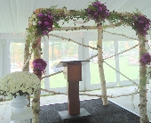 Wedding Ceremony Arch in Saratoga Springs, New York, Dehn's Flowers & Greenhouses, Inc