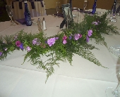 Garland on head table in Saratoga Springs, New York, Dehn's Flowers & Greenhouses, Inc