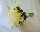 White Hand Held Bouquet in Saratoga Springs, New York, Dehn's Flowers & Greenhouses, Inc