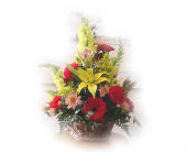 Sunny Flower Basket in Sanborn, New York, Treichler's Florist