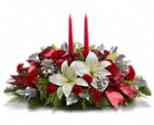 New York Flowers - Lights Of Christmas Centerpiece - Modern Florist