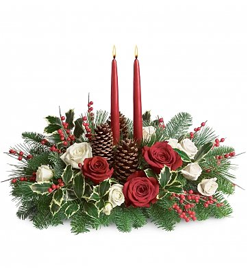 Fishers Flowers - Christmas Wishes Centerpiece - George Thomas, Inc.