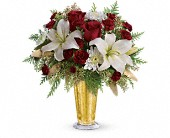 New York Flowers -  Golden Gifts by Modern Florist - Modern Florist