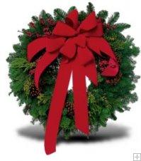 Evergreen Wreath in Arlington, Virginia, Buckingham Florist Inc.
