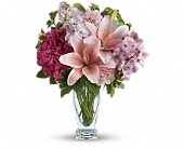 Teleflora's Blush Of Love Bouquet in The Woodlands, Texas, Rainforest Flowers