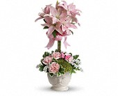 Teleflora's Blushing Lilies in Burlington WI, gia bella Flowers and Gifts