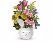 Teleflora's Cuddle Bunny Bouquet in Oakland CA, Lee's Discount Florist