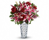 Teleflora's Diamonds And Lilies Bouquet in San Jose CA, Pink Unique Florist
