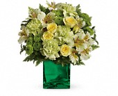 Teleflora's Emerald Elegance Bouquet in Rush NY, Chase's Greenhouse