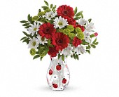 Tuckahoe Flowers - Teleflora's Lovely Ladybug Bouquet - Flowers By Candlelight