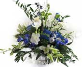 Hanukkah Centerpiece in Amherst NY, The Trillium's Courtyard Florist