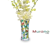 Murano Laurus Bud Vase with Orchids in San Francisco CA, Hoogasian Flowers