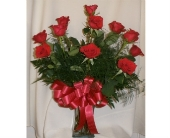 DOZEN RED ROSES in Sanford NC, Ted's Flower Basket