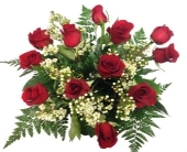 Red Rose with Wax Flower Bouquet in Grimsby ON, Cole's Florist Inc.