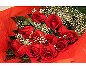 A Dozen Boxed Red Roses in Georgetown ON, Vanderburgh Flowers, Ltd